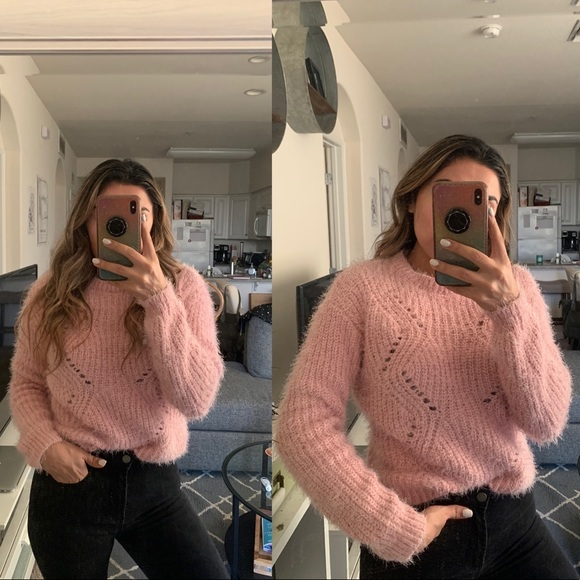 Sweaters - Pink Fuzzy Sweater